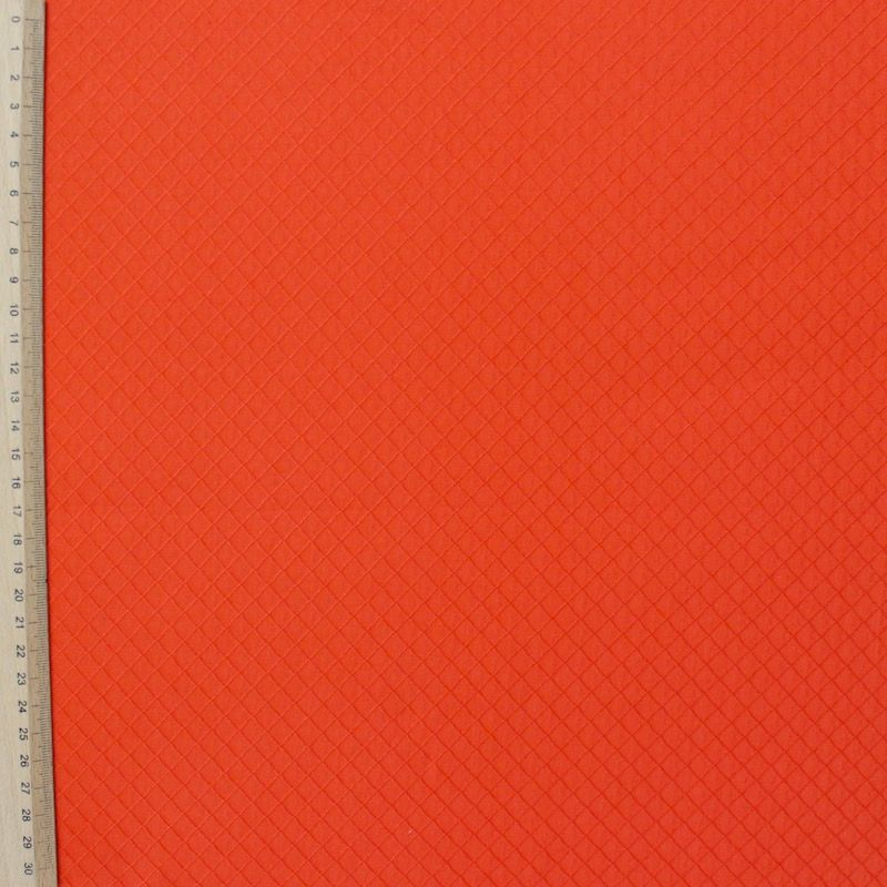 Tissu jacquard orange à motif losange