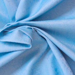 Tissu jacquard effet marbré bleu piscine