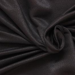 Tissu satiné sergé noir