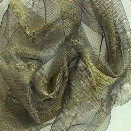 Voile polyester irisé à reflets verts