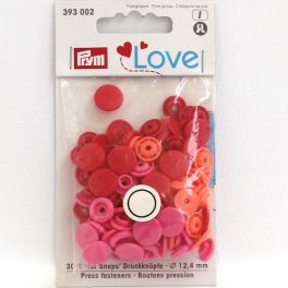 Boutons pression Prym Love rouge