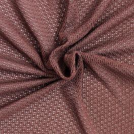 Tissu en maille de coton brun chocolat