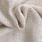 Tissu en maille de coton et raphia