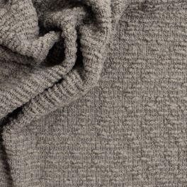 Wollen stof astrakan aspect eendblauw