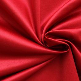 Satin extensible uni rouge rubis