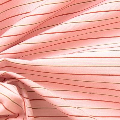 Tissu en coton à fine rayure