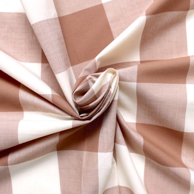 Tissu en coton à carreaux