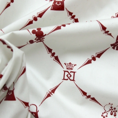 Cotton fabric with small squares