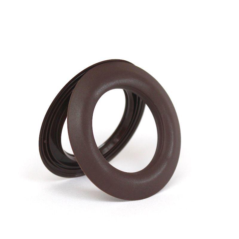 oeillets clipser chocolat mat. Black Bedroom Furniture Sets. Home Design Ideas