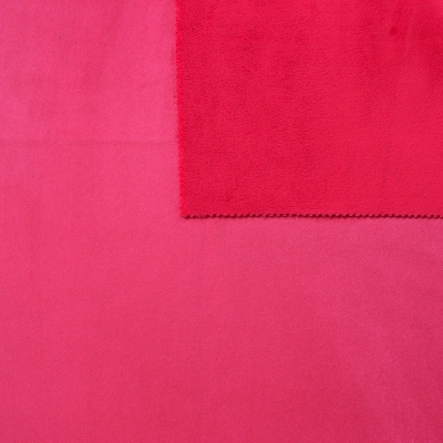 tissu pais r versible uni rouge cerise imitant le daim au m tre. Black Bedroom Furniture Sets. Home Design Ideas