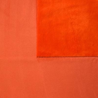 tissu pais r versible uni orange carotte imitant le daim au m tre. Black Bedroom Furniture Sets. Home Design Ideas