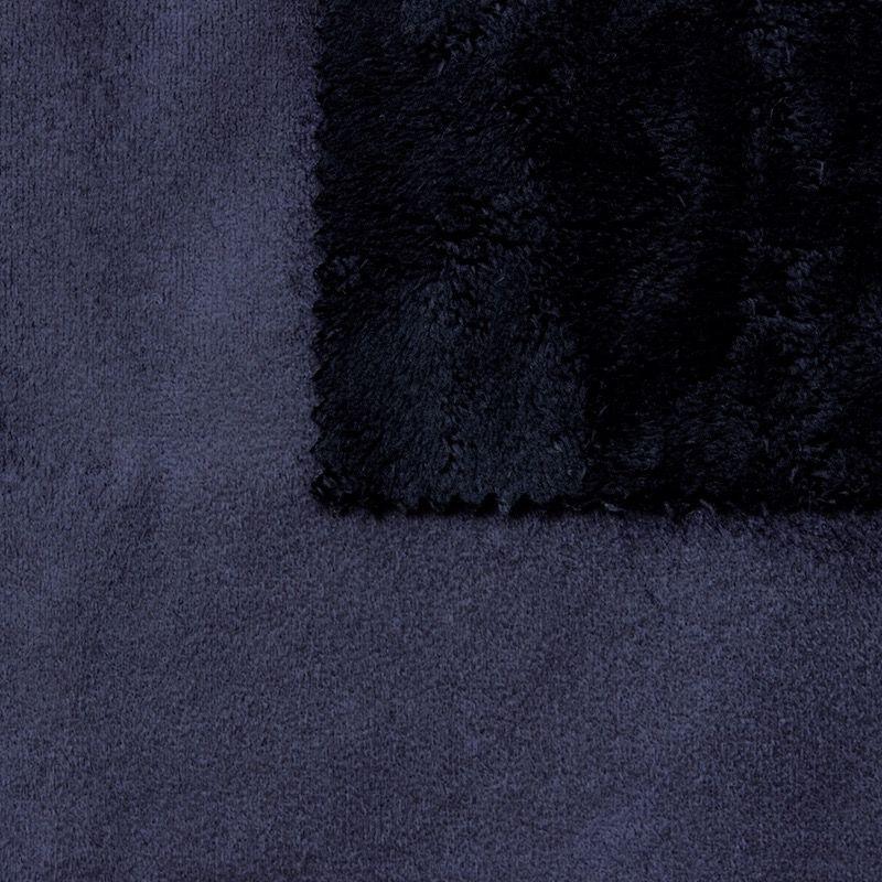 tissu pais r versible uni bleu nuit imitant le daim au m tre. Black Bedroom Furniture Sets. Home Design Ideas