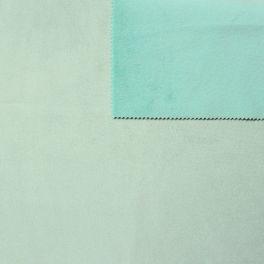tissu pais r versible uni vert d 39 eau imitant le daim au m tre. Black Bedroom Furniture Sets. Home Design Ideas