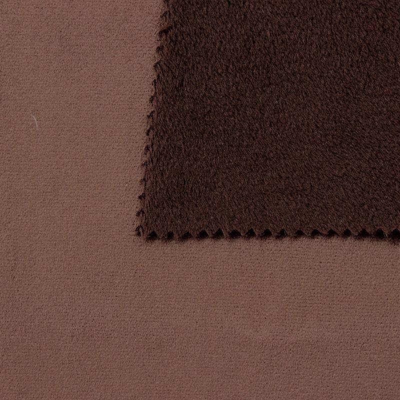 tissu pais r versible uni brun chocolat imitant le daim au m tre. Black Bedroom Furniture Sets. Home Design Ideas