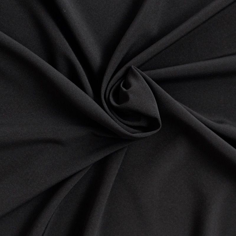 Tissu léger extensible noir