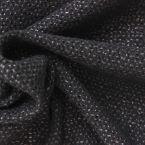 Tissu en maille de coton et raphia noir