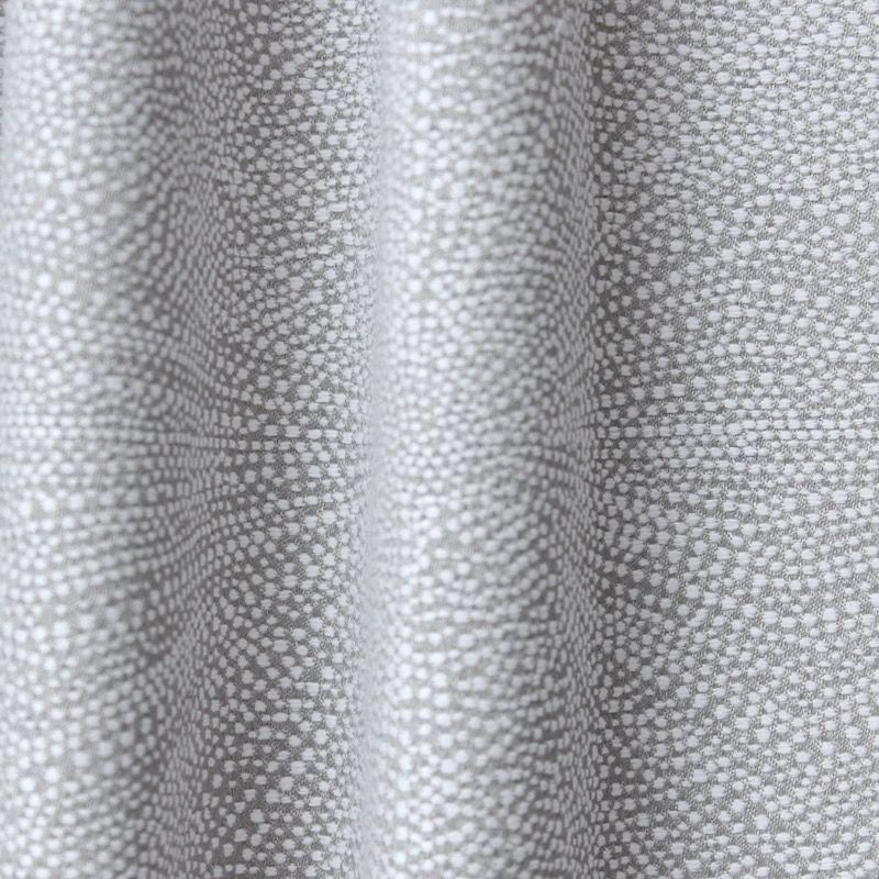 Tissu d'ameublement jacquard feu d'artifice gris perle et blanc