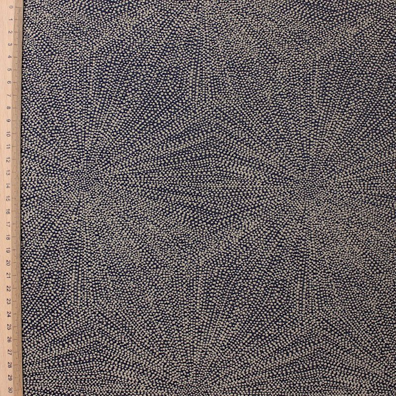 Jacquard fabric with firework - black and beige