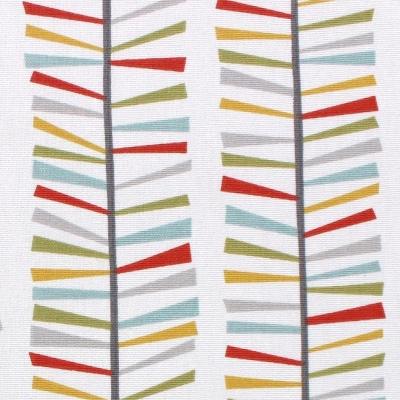 Tissu d'ameublement imprimé branche multicolore