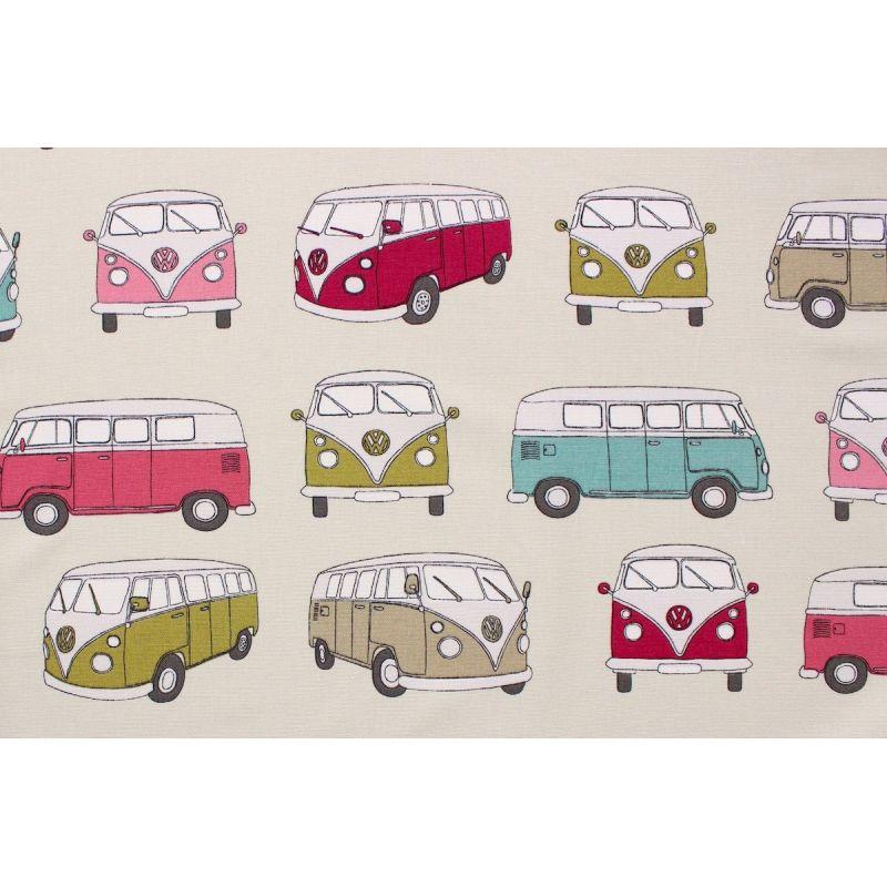 Tissu d'ameublement imprimé Van Volkswagen rose