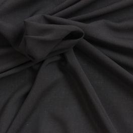 Tissu léger en rayonne noir