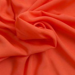 Tissu léger en rayonne rouge orangé