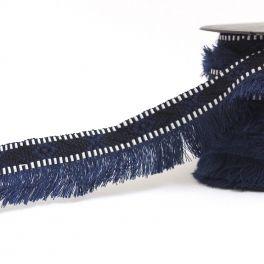 Galon Incas à franges bleu marine
