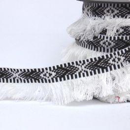 Galon Incas à franges blanc