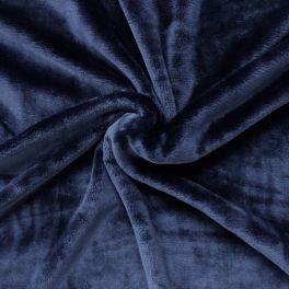Velours Minkee bleu marine uni