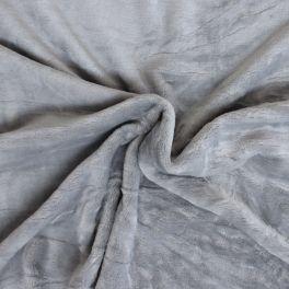 Velours Minkee gris perle uni