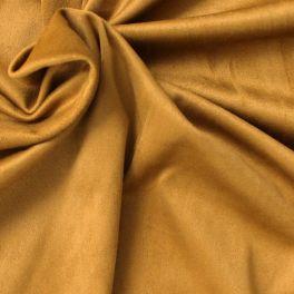 Tissu suédine extensible et lourd moutarde