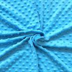 Aardbei Minky fluweel Stof met puntjes in relïef