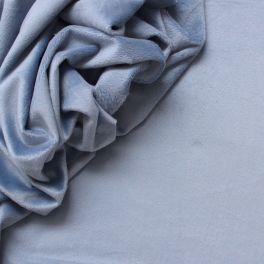 Velours Minkee bleu nuage