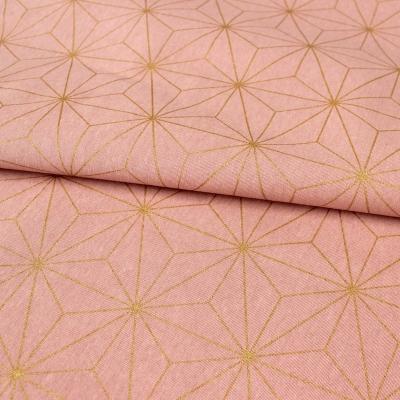 Katoen en polyester stof met geometrische patroon