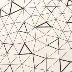 Tissu d'ameublement à motif géométrique noir sur fond crème