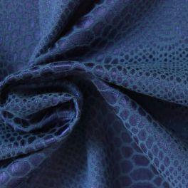 Jacquard satin à motif serpent bleu saphir
