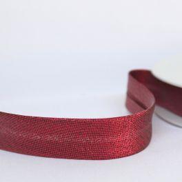 BIAIS lurex brillant coloris rubis
