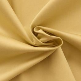 Tissu en coton et élasthanne jaune paille