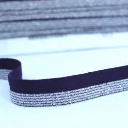 BIAIS élastique avec bord scintillant obergine