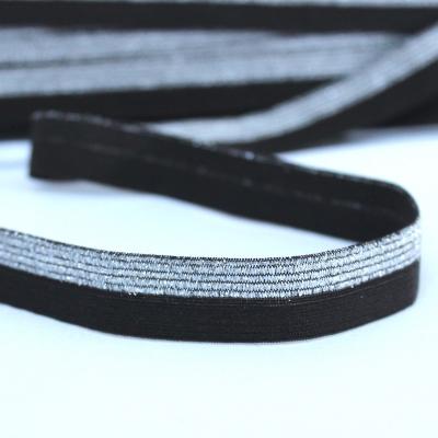 BIAIS élastique avec bord scintillant noir
