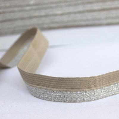 BIAIS élastique avec bord scintillant sable