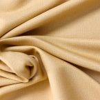 Textured fluid fabric with mixed materials - straw yellow