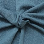 Quilted jersey fabric with anthracite twist and fluffy fleece back