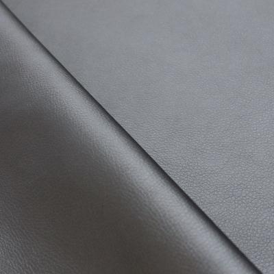 Simili cuir gris carbone satiné