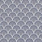 Tissu jacquard à petit motif éventail bleu marine