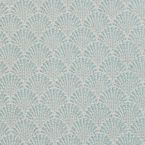 Tissu jacquard à petit motif éventail bleu turquoise
