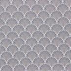 Tissu jacquard à petit motif éventail gris bleu