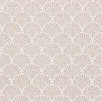 Tissu jacquard à petit motif éventail beige