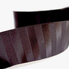 ruban satin rayé noir 40mm