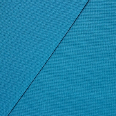Tissu en coton uni bleu canard